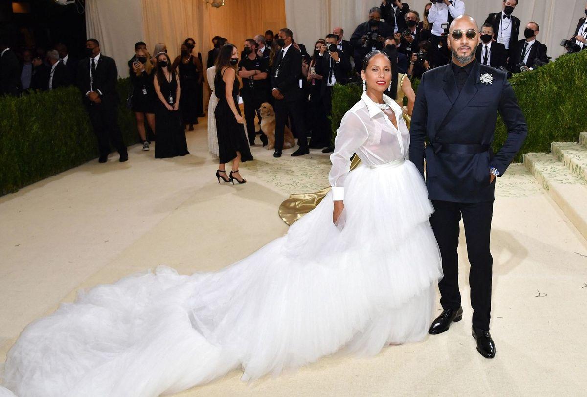 Den amerikanske singer-songwriter Alicia Keys og hendes mand Swizz Beatz.