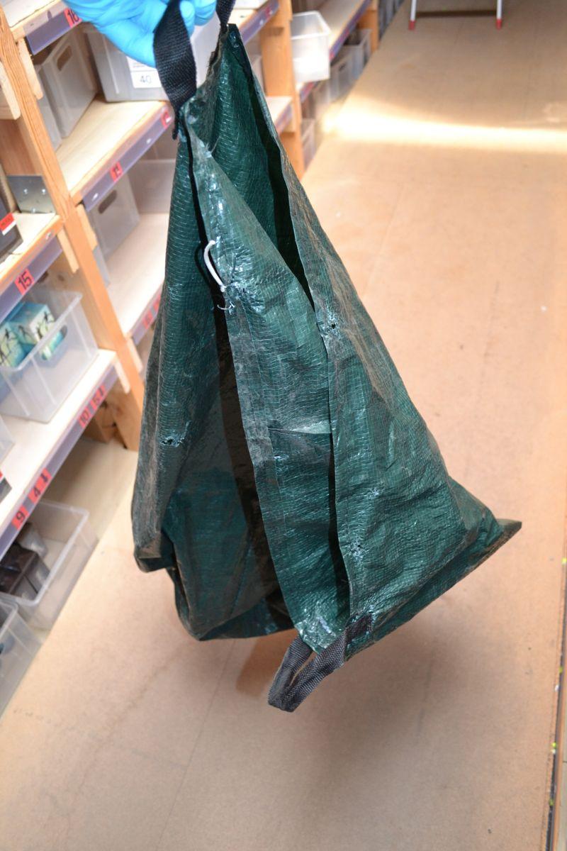 Denne sæk er brugt i et større tyveri
