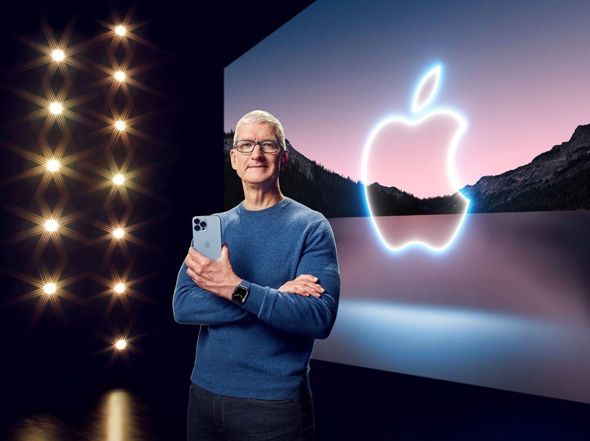 Tirsdag præsenterede Apples administrerende direktør, Tim Cook, en række nye produkter - heriblandt den nye iPhone 13. (Arkivfoto)