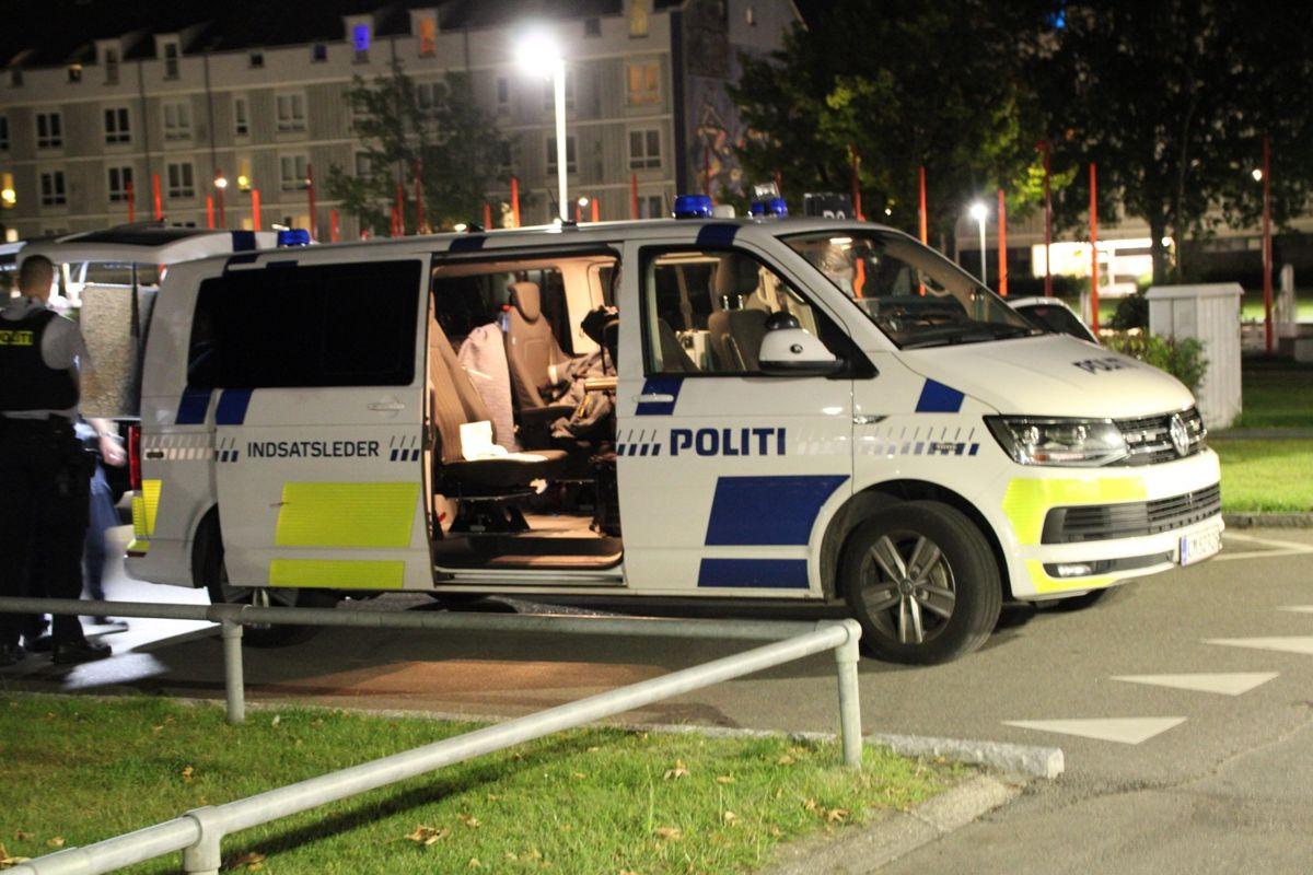 Politi er massivt til stede