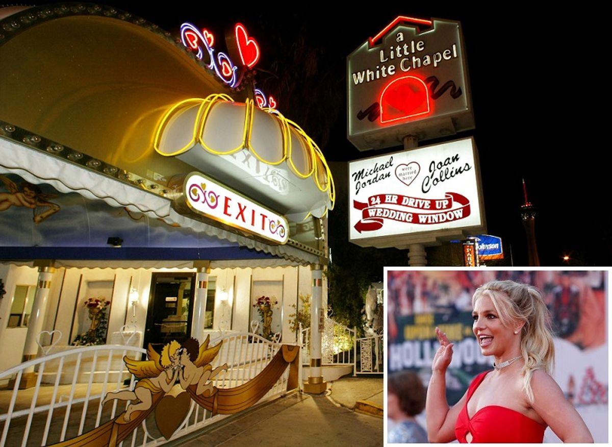 Det skal være her i Las Vegas, hvor Britney Spears og Jason Alexander blev gift.