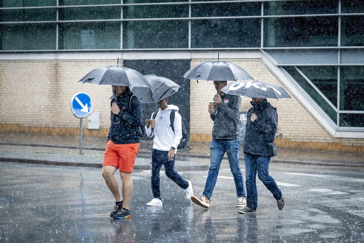 DMI: Her vil det regne hele dagen