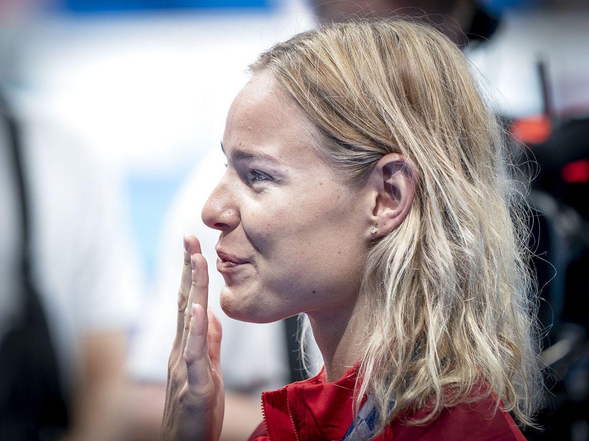 Pernille Blume har sagt ja til sin franske elitesvømmer.