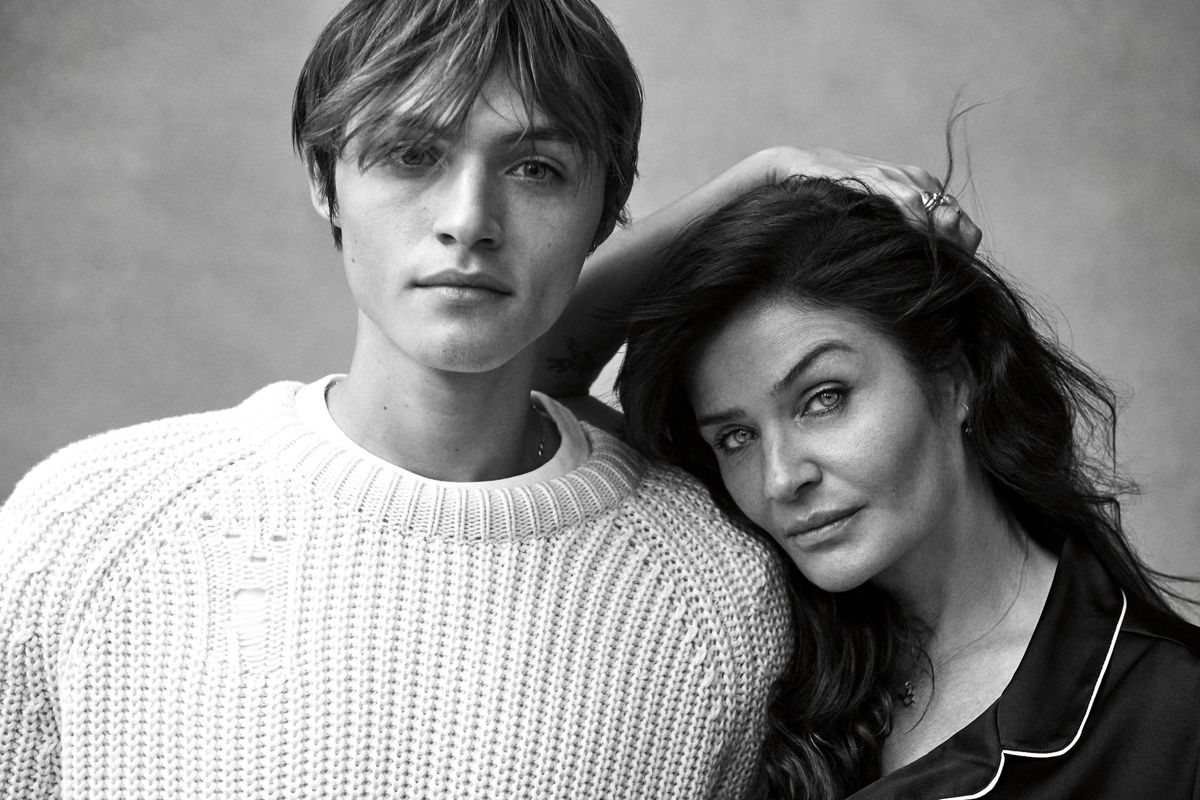 Helena Christensen og hendes 21-årige søn Mingus.