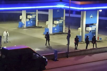 En 49-årig tysk mand erkender at have skudt og dræbt en 20-årig medarbejder på denne tankstation i byen Idar-Oberstein som følge af en strid om mundbind.