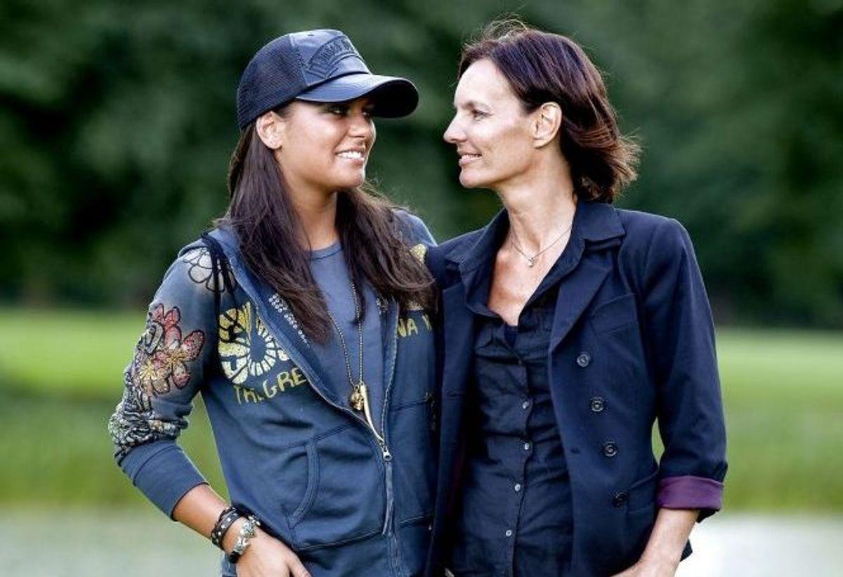 Janni Spies ses her sammen med sin datter Michala. Foto: Bax Lindhardt/Scanpix.
