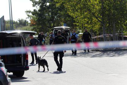 Politiet var talstærkt til stede i Taastrup.