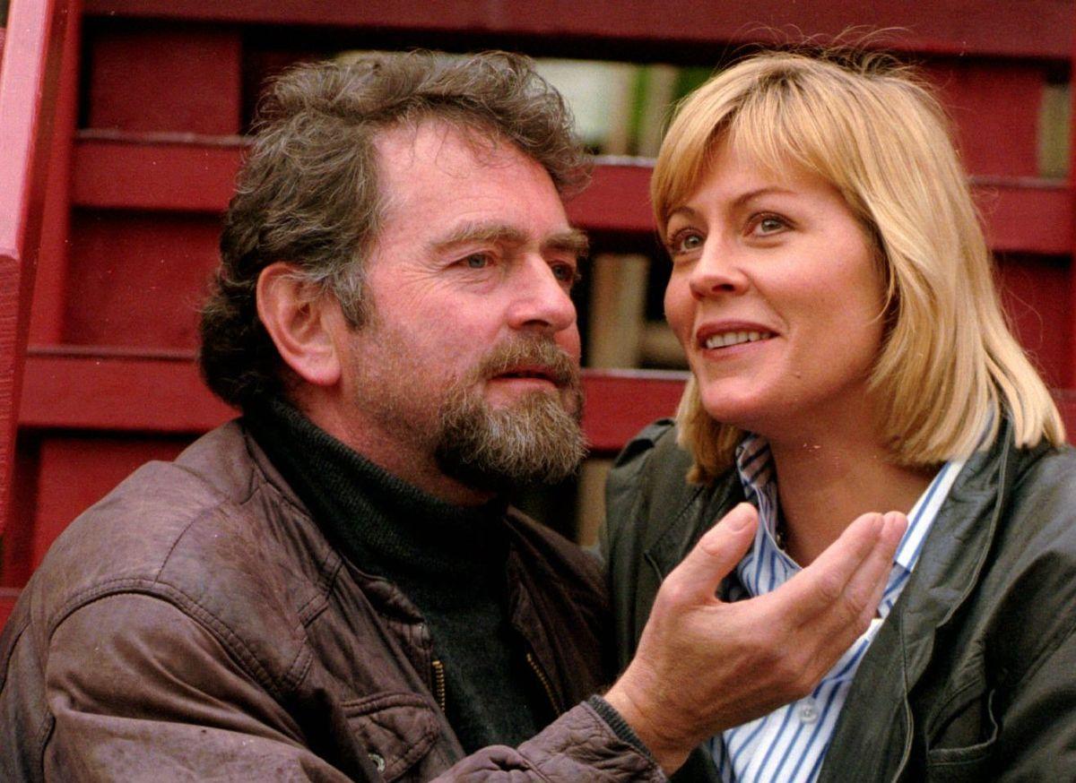Nina Gunke ses her sammen med Erik Clausen, som hun spillede sammen med i filmen 'Den store badedag'.