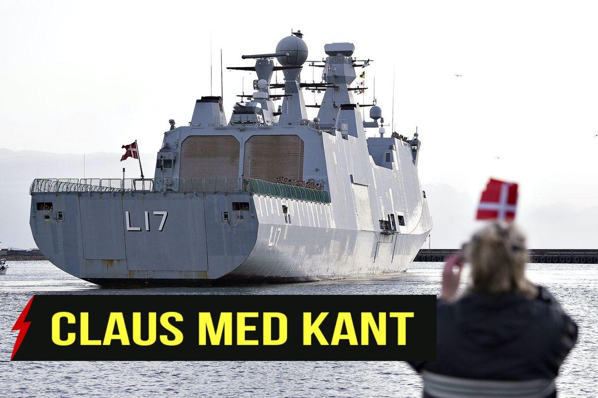Fregatten Esbern Snare skal nu til Afrika for at dele gummibåde og madpakker ud til de lokale pirater.