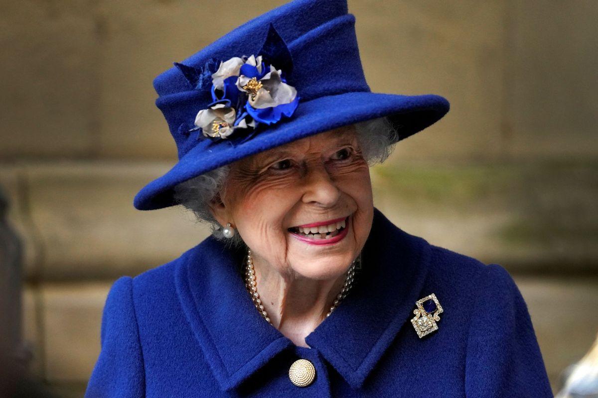 Dronningen besøgte Westminster Abbey den 12. oktober.