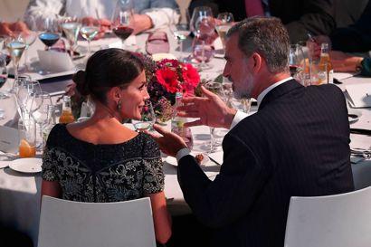 Spaniens Kong Felipe VI og Dronning Letizia var med til prisfesten.