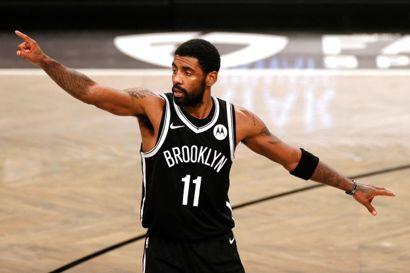 Kyrie Irving var Brooklyn Nets' mest scorende spiller i grundspillet i den forgangne sæson. Holdet fra New York tabte i anden runde af slutspillet til de senere mestre fra Milwaukee Bucks. (Arkivfoto)