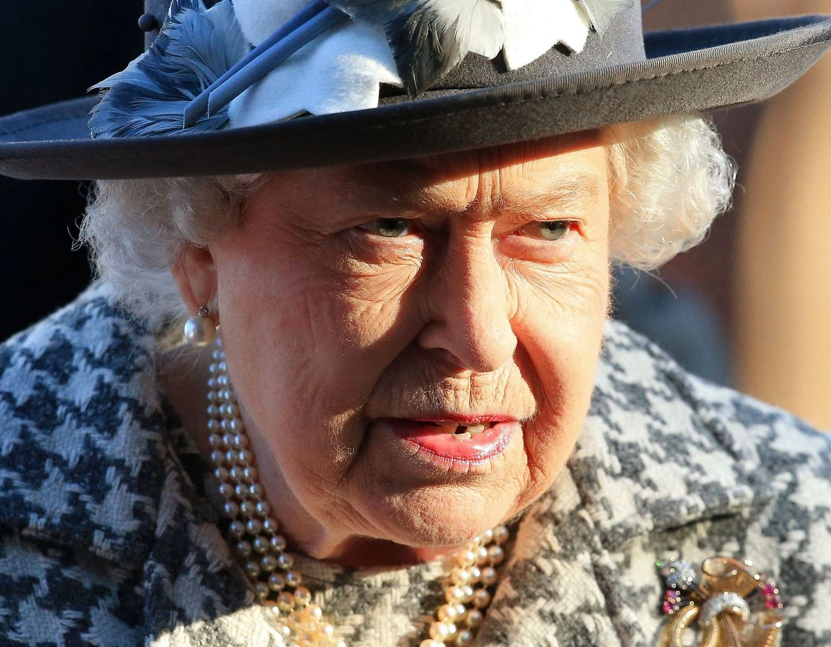 Dronning Elizabeth på hospitalet