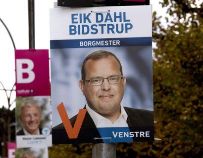 Daværende Dragør-borgmester Eik Dahl Bidstrup (V) i forbindelse med sidste kommunalvalg i 2017.
